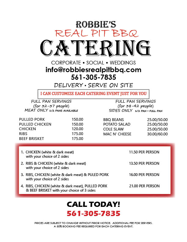 bbq catering menu West Palm Beach